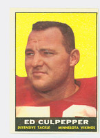 1961 Topps Football 84 Ed Culpepper Minnesota Vikings Very Good to Excellent