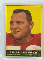 1961 Topps Football 84 Ed Culpepper Minnesota Vikings Excellent