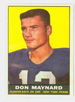1961 Topps Football 150 Don Maynard ROOKIE New York Titans Excellent to Mint