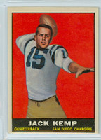 1961 Topps Football 166 Jack Kemp San Diego Chargers Excellent