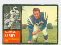 1962 Topps Football 5 Raymond Berry Single Print Baltimore Colts Very Good to Excellent