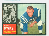 1962 Topps Football 6 Steve Myhra Baltimore Colts Excellent to Mint