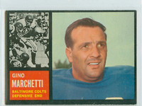 1962 Topps Football 8 Gino Marchetti Baltimore Colts Excellent to Excellent Plus