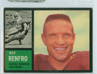 1962 Topps Football 27 Ray Renfro Single Print Cleveland Browns Excellent
