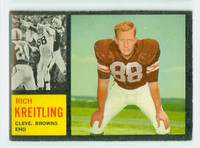 1962 Topps Football 29 Rich Kreitling Cleveland Browns Very Good to Excellent