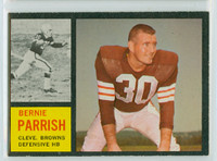 1962 Topps Football 34 Bernie Parrish Cleveland Browns Excellent to Mint