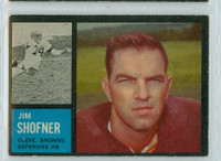 1962 Topps Football 35 Jim Shofner Cleveland Browns Excellent