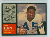1962 Topps Football 51 Dan Lewis Detroit Lions Excellent to Excellent Plus