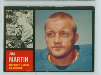1962 Topps Football 55 Jim Martin Detroit Lions Excellent