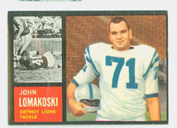1962 Topps Football 61 John Lomakoski Single Print Detroit Lions Very Good to Excellent