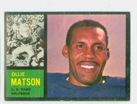 1962 Topps Football 79 Ollie Matson Single Print Los Angeles Rams Excellent