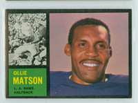 1962 Topps Football 79 Ollie Matson Single Print Los Angeles Rams Excellent to Mint