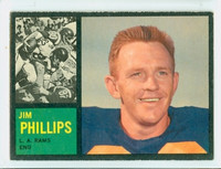 1962 Topps Football 81 Jim Phillips Los Angeles Rams Excellent to Mint