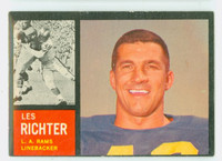 1962 Topps Football 86 Les Richter Single Print Los Angeles Rams Excellent