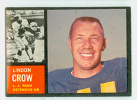 1962 Topps Football 87 Lindon Crow Los Angeles Rams Excellent