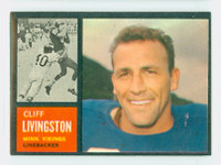 1962 Topps Football 99 Cliff Livingston Single Print Minnesota Vikings Excellent to Mint