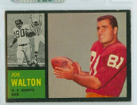 1962 Topps Football 103 Joe Walton New York Giants Excellent