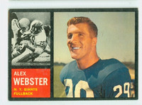 1962 Topps Football 105 Alex Webster New York Giants Very Good to Excellent