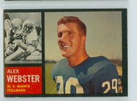 1962 Topps Football 105 Alex Webster New York Giants Excellent