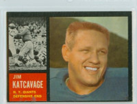 1962 Topps Football 109 Jim Katcavage ROOKIE New York Giants Excellent