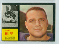 1962 Topps Football 110 Sam Huff Single Print New York Giants Very Good to Excellent