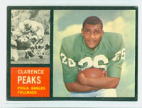 1962 Topps Football 118 Clarence Peaks Philadelphia Eagles Excellent to Mint