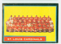 1962 Topps Football 150 Cardinals Team Excellent to Excellent Plus