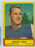 1963 Topps Football 3 Jimmy Orr Baltimore Colts Excellent to Mint