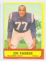 1963 Topps Football 5 Jim Parker Baltimore Colts Excellent