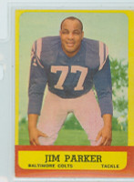 1963 Topps Football 5 Jim Parker Baltimore Colts Excellent to Excellent Plus