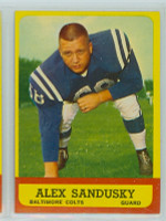 1963 Topps Football 6 Alex Sandusky Baltimore Colts Excellent to Mint