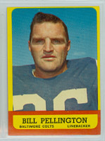 1963 Topps Football 10 Bill Pellington Baltimore Colts Excellent