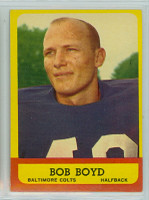 1963 Topps Football 11 Bob Boyd ROOKIE Baltimore Colts Excellent to Mint
