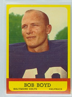 1963 Topps Football 11 Bob Boyd ROOKIE Baltimore Colts Near-Mint