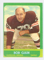 1963 Topps Football 23 Bob Gain Single Print Cleveland Browns Very Good