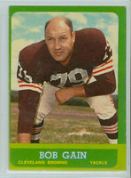 1963 Topps Football 23 Bob Gain Single Print Cleveland Browns Very Good to Excellent