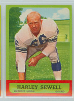 1963 Topps Football 29 Harley Sewell Detroit Lions Excellent to Excellent Plus