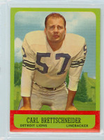 1963 Topps Football 31 Carl Brettschneider Detroit Lions Near-Mint Plus