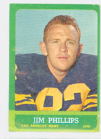 1963 Topps Football 41 Jim Phillips Los Angeles Rams Very Good