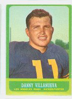 1963 Topps Football 43 Danny Villanueva Los Angeles Rams Excellent