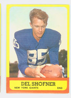 1963 Topps Football 50 Del Shofner Single Print New York Giants Excellent