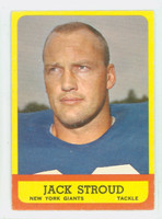 1963 Topps Football 53 Jack Stroud Single Print New York Giants Very Good