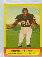 1963 Topps Football 57 Erich Barnes Single Print New York Giants Excellent