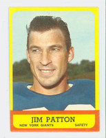 1963 Topps Football 58 Jim Patton Single Print New York Giants Very Good