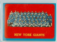 1963 Topps Football 60 Giants team Excellent to Mint