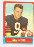 1963 Topps Football 61 Bill Wade Chicago Bears Excellent