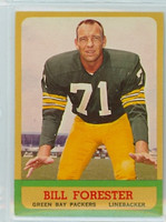 1963 Topps Football 94 Bill Forester Green Bay Packers Excellent