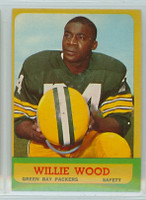 1963 Topps Football 95 Willie Wood ROOKIE Green Bay Packers Excellent