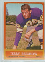 1963 Topps Football 101 Jerry Reichow Minnesota Vikings Excellent