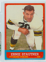 1963 Topps Football 129 Ernie Stautner Single Print Pittsburgh Steelers Near-Mint to Mint